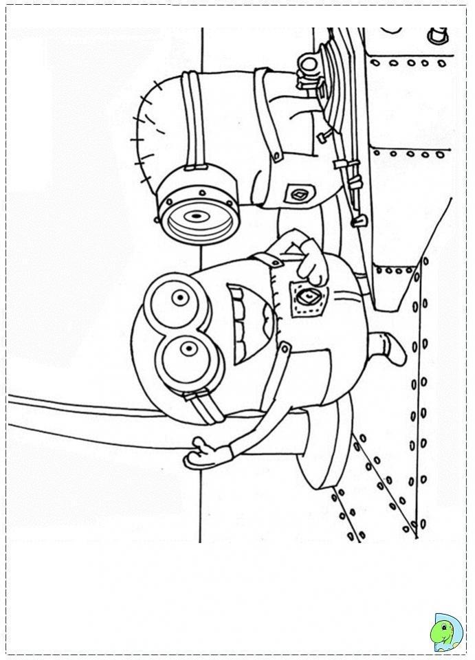 ภาพวาดระบายสีมินเนียน 08