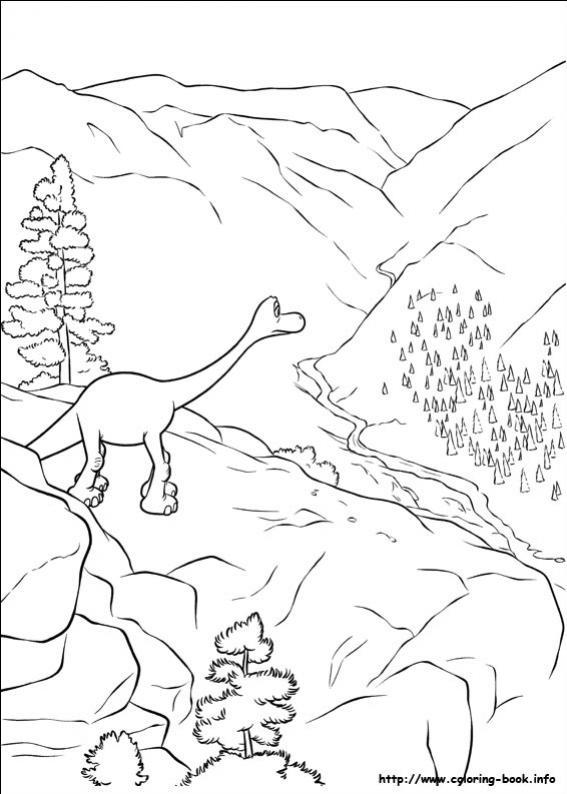ภาพวาดระบายสีผจญภัยไดโนเสาร์เพื่อนรัก 18
