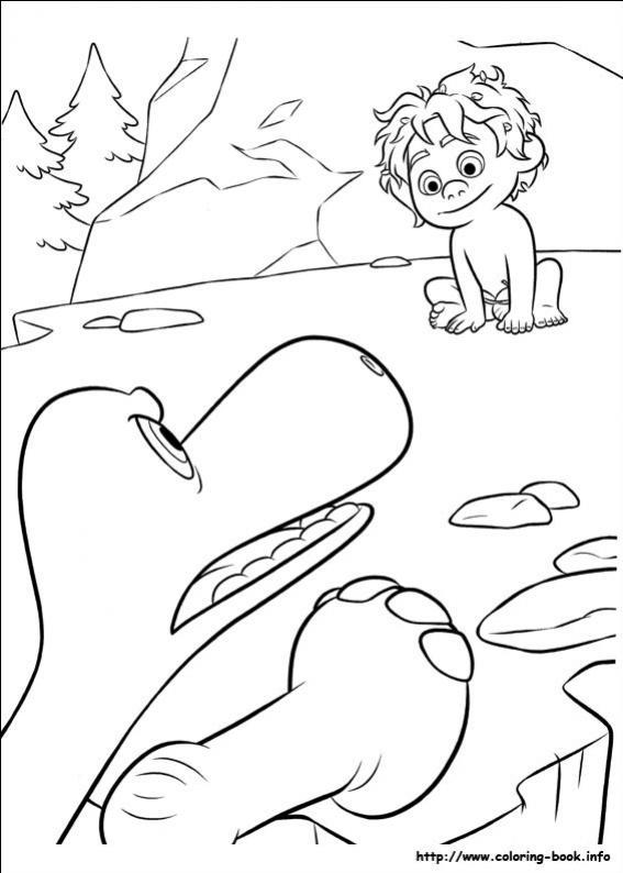ภาพวาดระบายสีผจญภัยไดโนเสาร์เพื่อนรัก 16