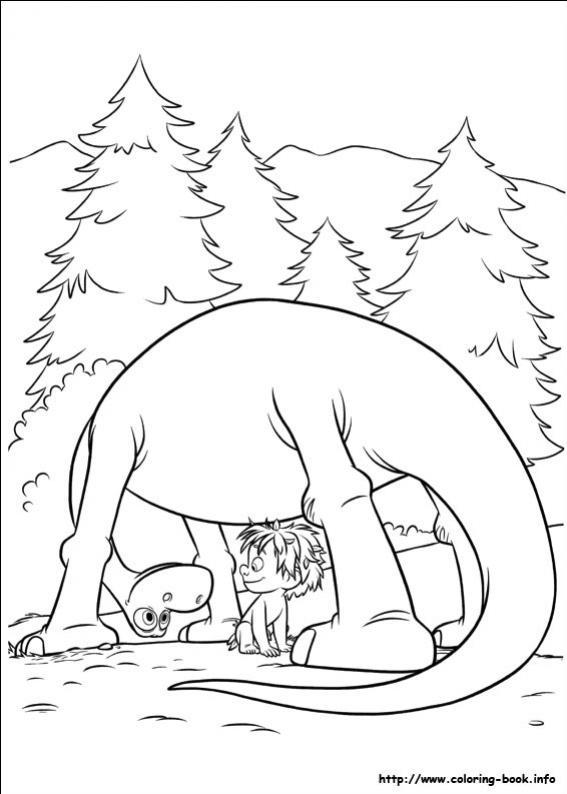 ภาพวาดระบายสีผจญภัยไดโนเสาร์เพื่อนรัก 25
