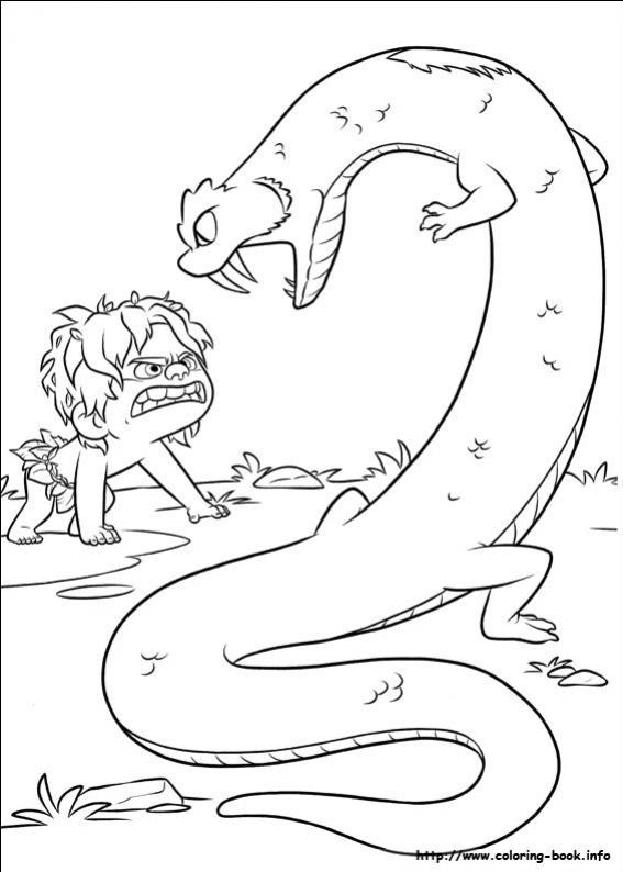ภาพวาดระบายสีผจญภัยไดโนเสาร์เพื่อนรัก 26
