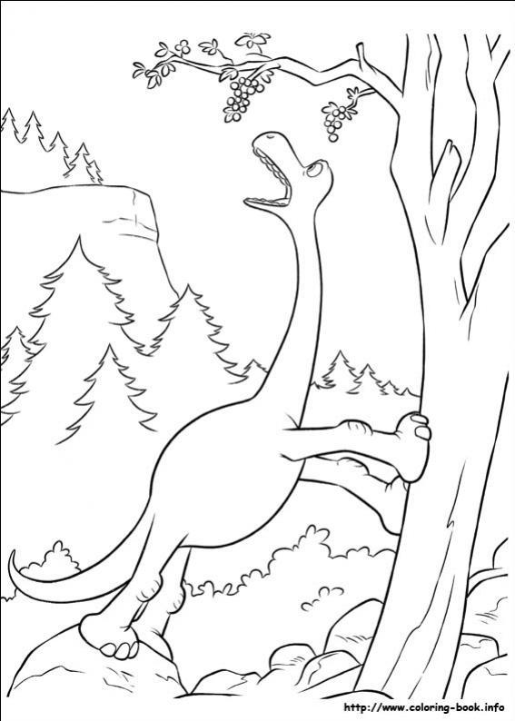 ภาพวาดระบายสีผจญภัยไดโนเสาร์เพื่อนรัก 19