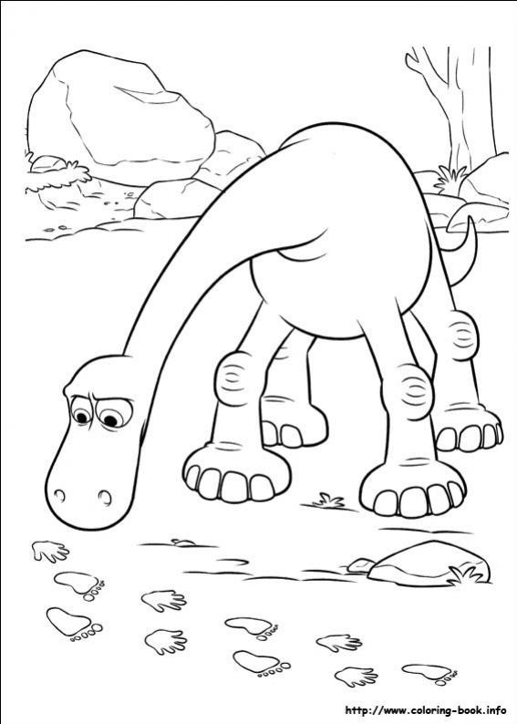 ภาพวาดระบายสีผจญภัยไดโนเสาร์เพื่อนรัก 21