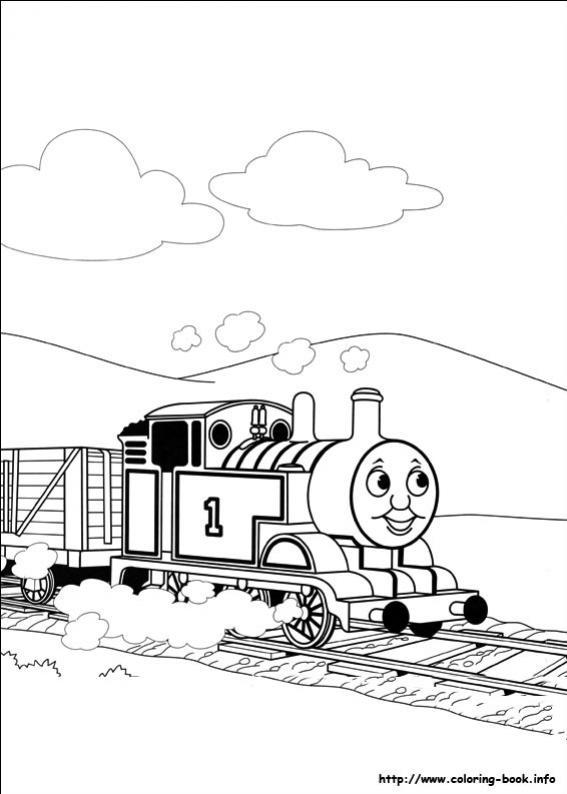 ภาพวาดระบายสีโธมัสยอดหัวรถจักร 30