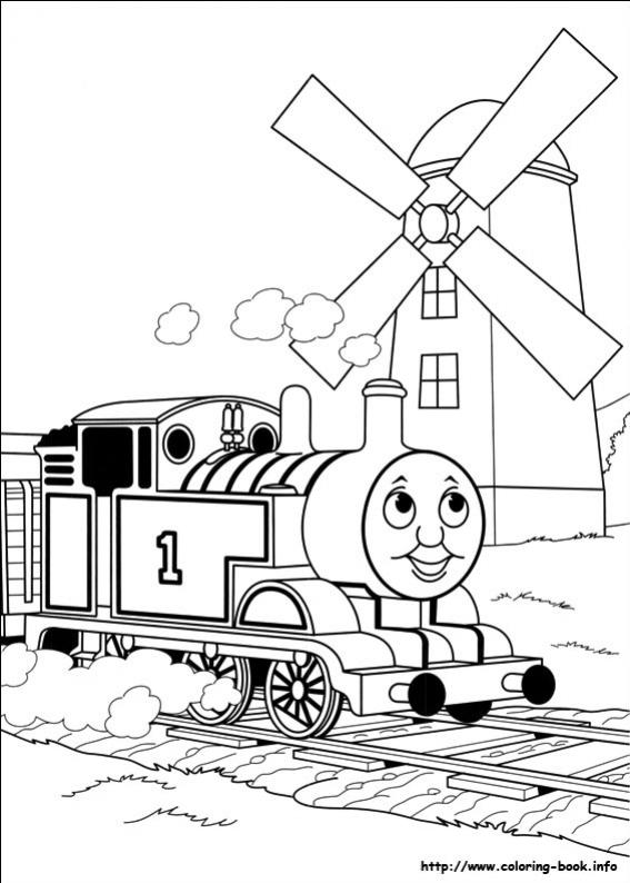 ภาพวาดระบายสีโธมัสยอดหัวรถจักร 34