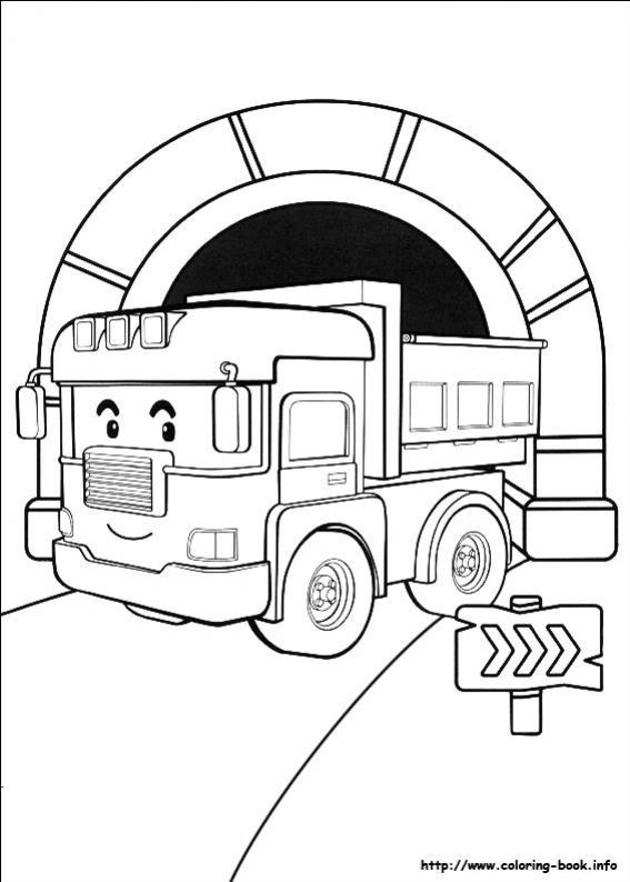 ภาพวาดระบายสีRobocar poli 30