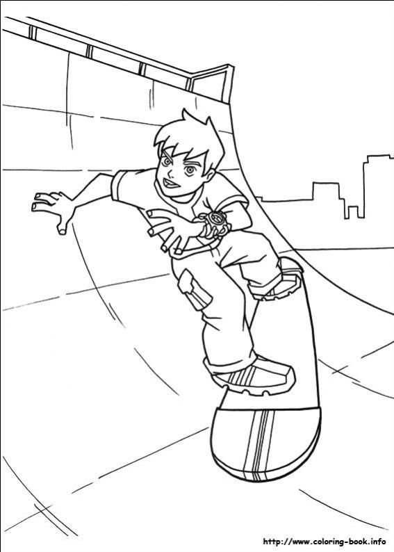 ภาพวาดระบายสีBen10 เบ็นเท็น 22