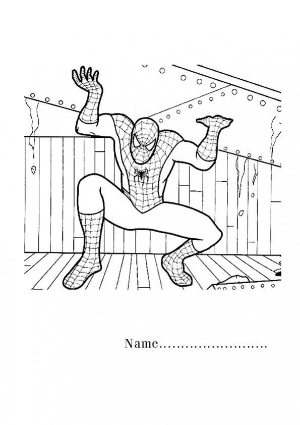 ภาพวาดระบายสีสไปเดอร์แมนมนุษย์แมงมุม
