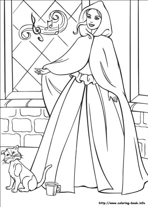 ภาพวาดระบายสีBarbie ตุ๊กตาบาร์บี้ 25