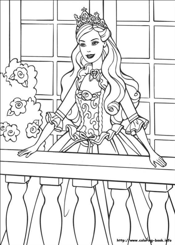 ภาพวาดระบายสีBarbie ตุ๊กตาบาร์บี้ 22