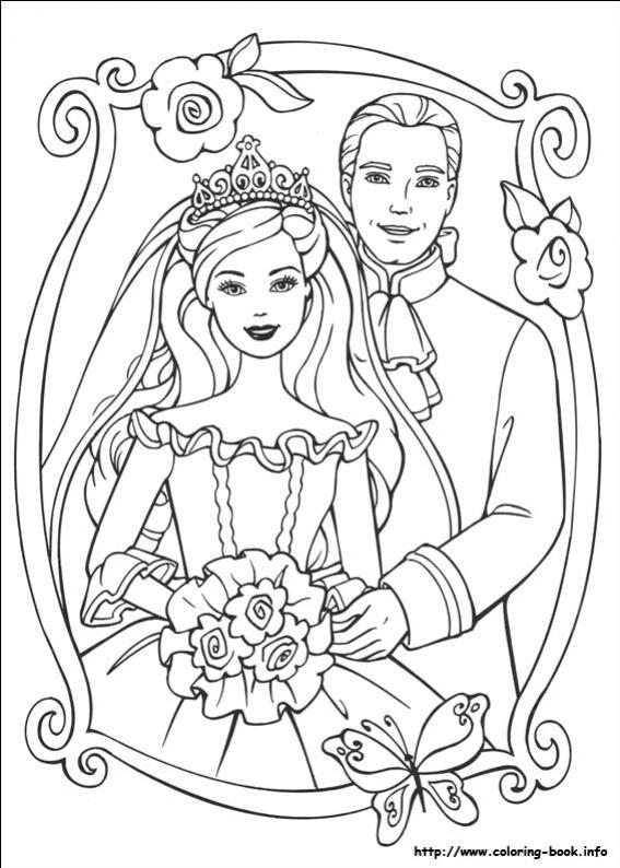ภาพวาดระบายสีBarbie ตุ๊กตาบาร์บี้ 29