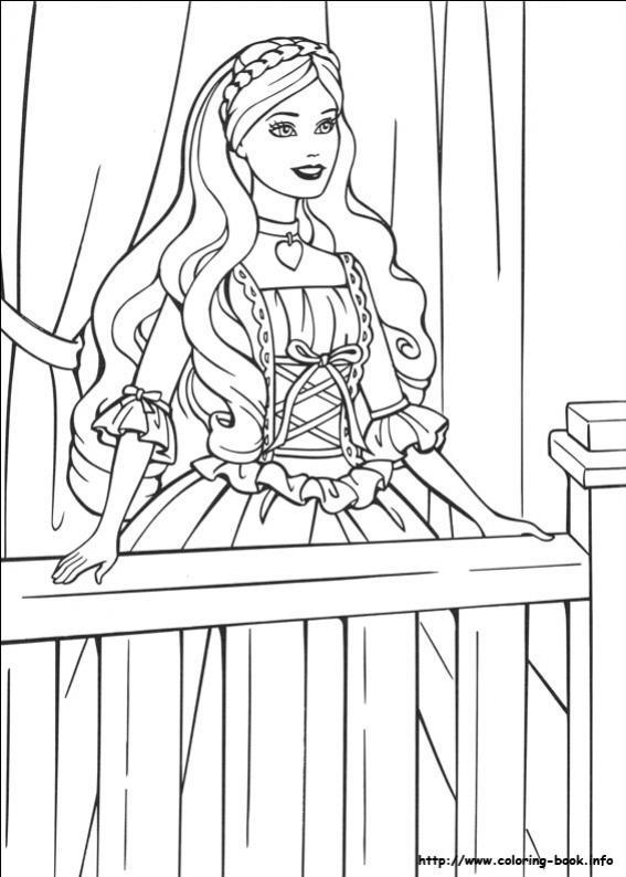 ภาพวาดระบายสีBarbie ตุ๊กตาบาร์บี้ 21