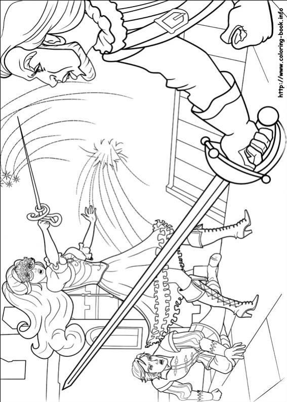 ภาพวาดระบายสีBarbie ตุ๊กตาบาร์บี้ 14