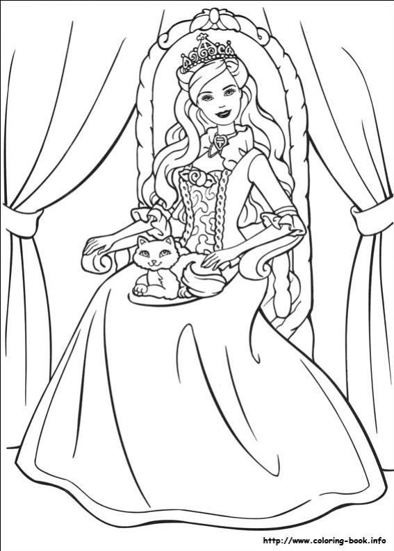 ภาพวาดระบายสีBarbie ตุ๊กตาบาร์บี้ 19
