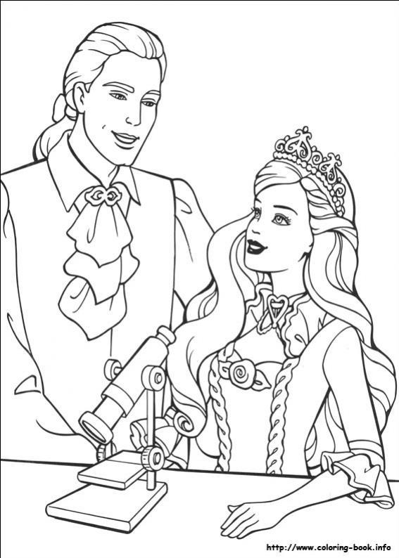 ภาพวาดระบายสีBarbie ตุ๊กตาบาร์บี้ 23