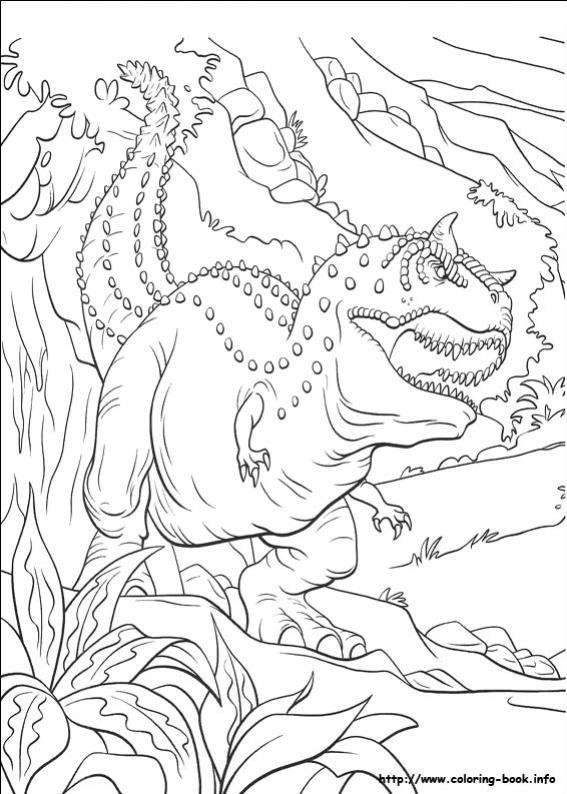 ภาพวาดระบายสีDinosaur 38