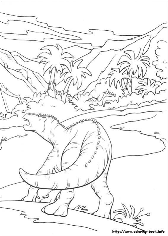 ภาพวาดระบายสีDinosaur 39