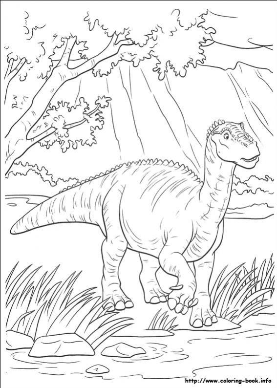 ภาพวาดระบายสีDinosaur 35