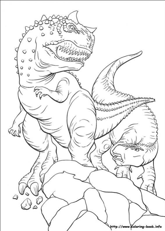 ภาพวาดระบายสีDinosaur 31