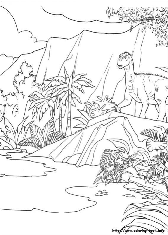 ภาพวาดระบายสีDinosaur 36