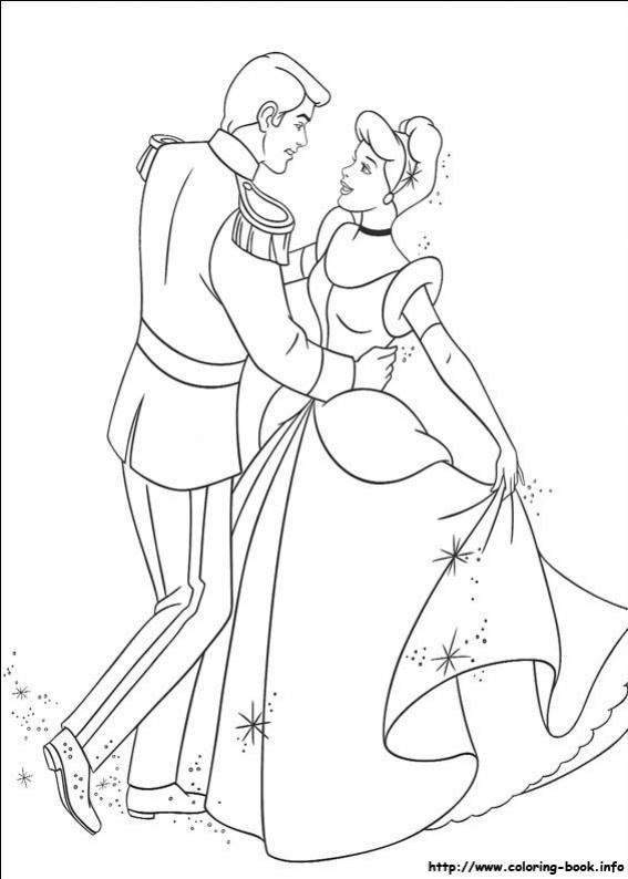 ภาพวาดระบายสี ซินเดอเรลล่า Cinderella เจ้าหญิงแสนสวย ซินเด