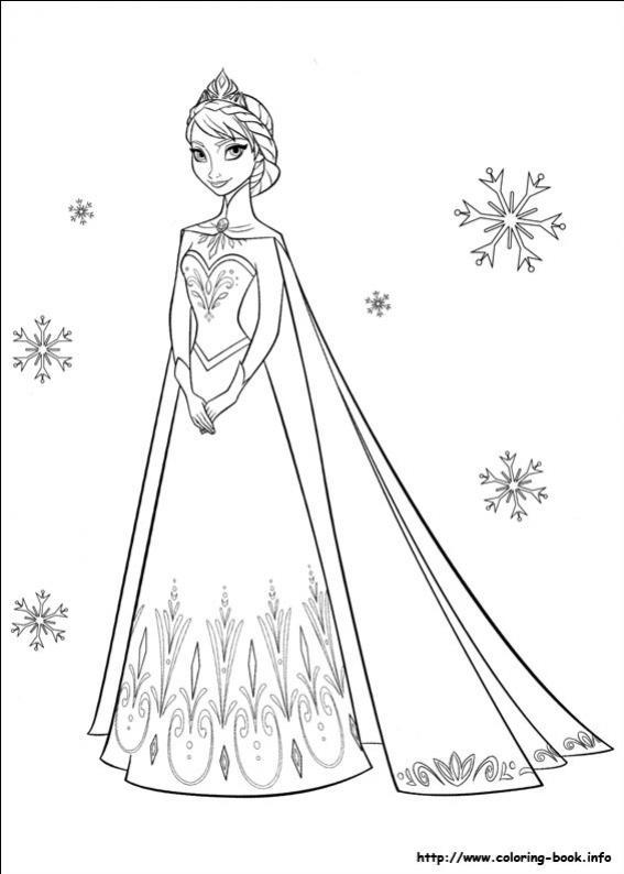 ภาพวาดระบายสีราชินีหิมะ 31