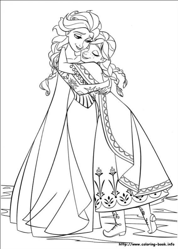 ภาพวาดระบายสีราชินีหิมะ 34