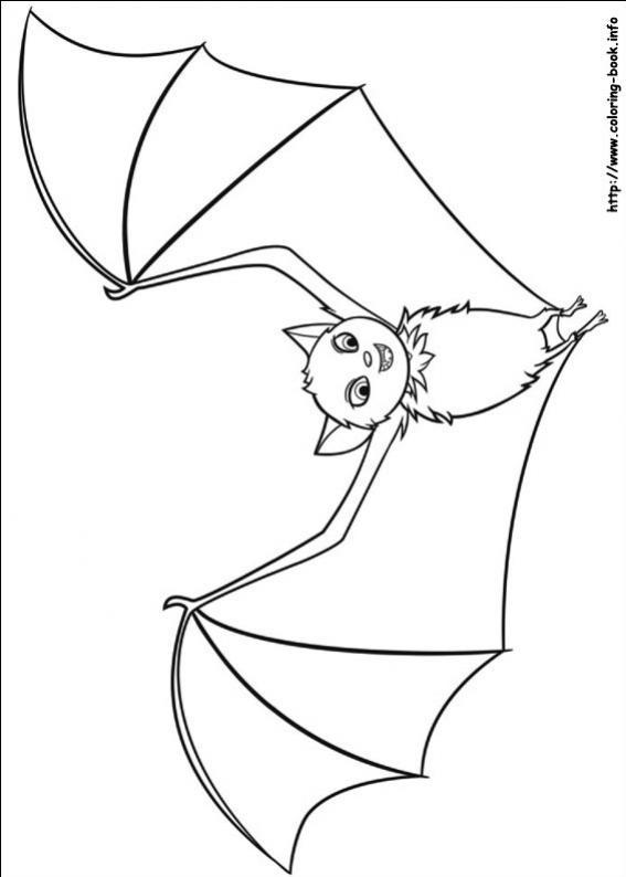 ภาพวาดระบายสีHotel Transylvania 08