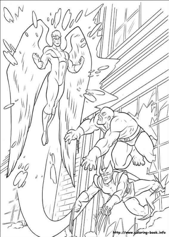 ภาพวาดระบายสีX-men 34