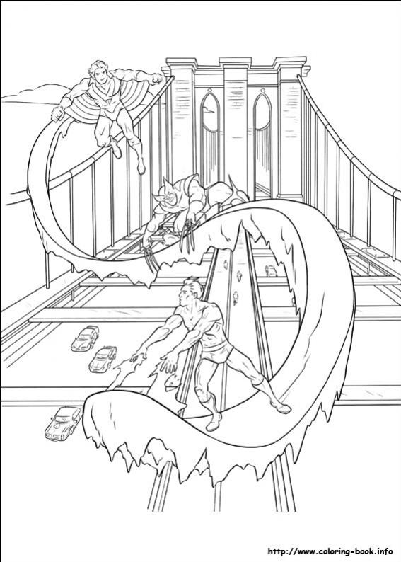 ภาพวาดระบายสีX-men 29