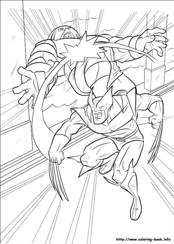 ภาพวาดระบายสีX-men 32