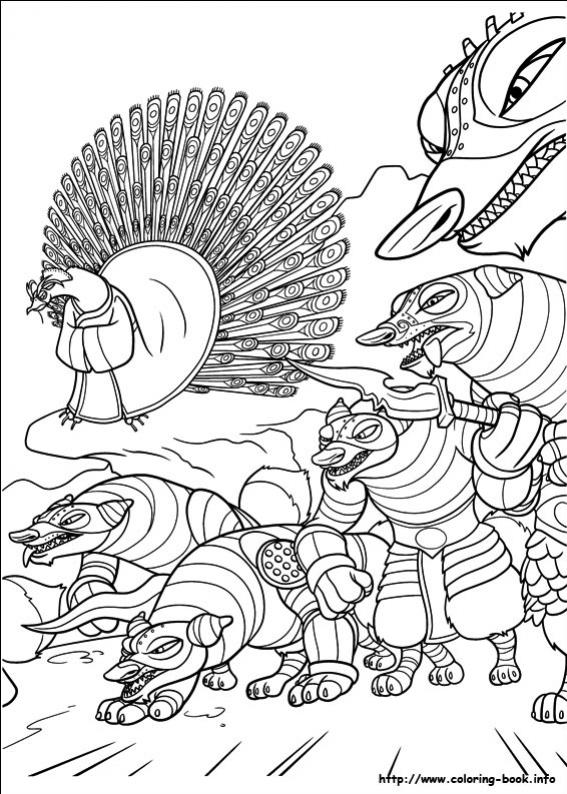 ภาพวาดระบายสีกังฟูแพนด้า 24