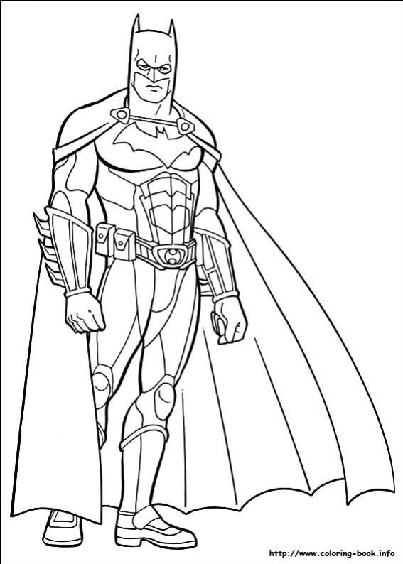 ภาพวาดระบายสีBatman 10