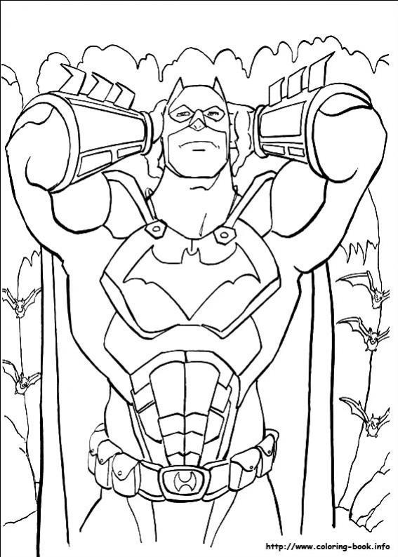 ภาพวาดระบายสีBatman 18