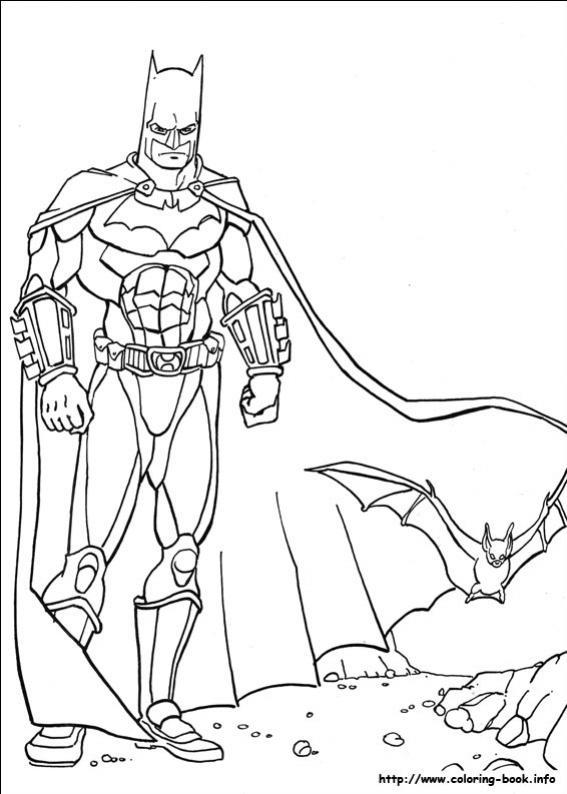 ภาพวาดระบายสีBatman 08