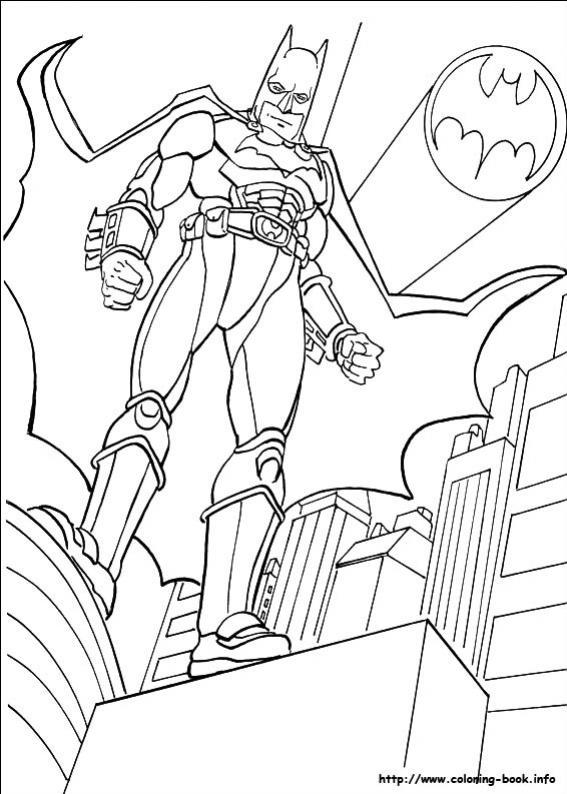 ภาพวาดระบายสีBatman 09