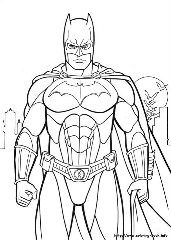 ภาพวาดระบายสีBatman 07