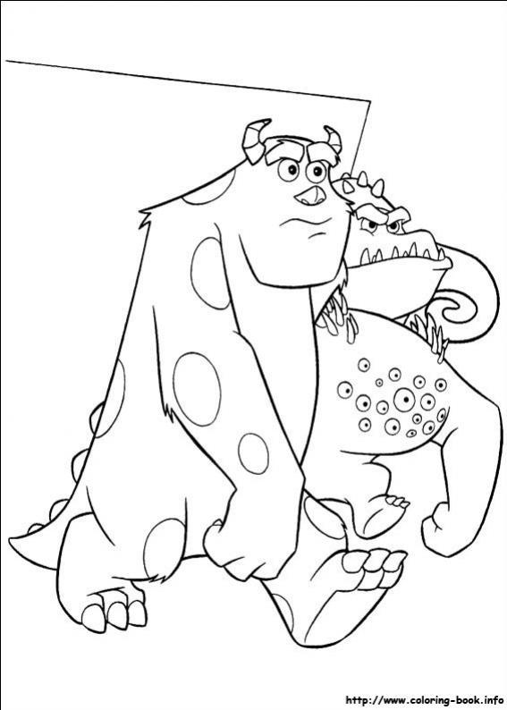 ภาพวาดระบายสีMonsters inc 49