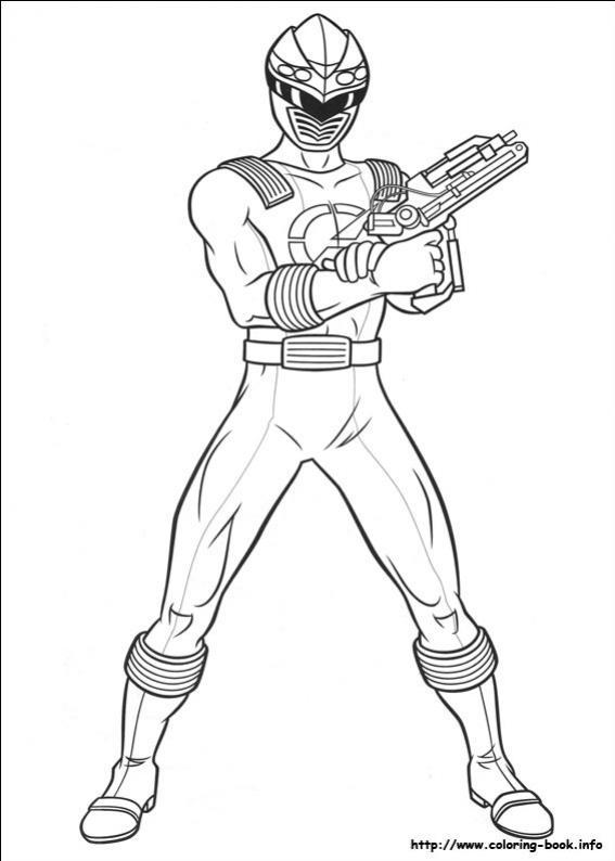 ภาพวาดระบายสีพาวเวอร์เรนเจอร์ 52
