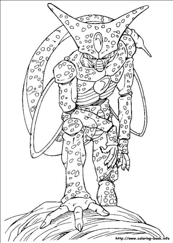 ภาพวาดระบายสีปีศาจเซล ร่างแรก