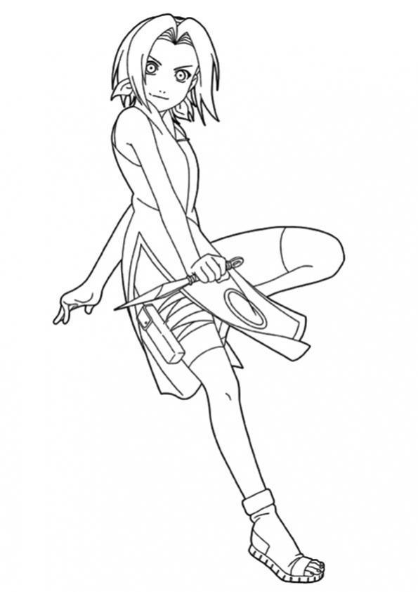 ภาพระบายสี Naruto นารุโตะ นินจานารูโตะการ์ตูนญี่ปุ่น นารุโ