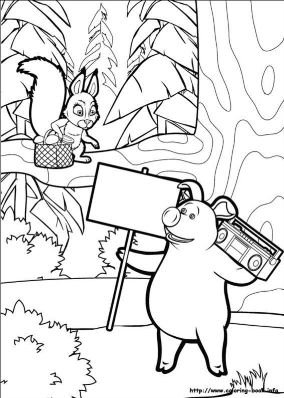 ภาพวาดระบายสีมาช่ากับพี่หมี 14