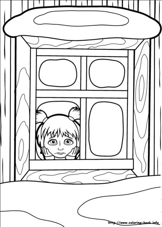 ภาพวาดระบายสีมาช่ากับพี่หมี 02