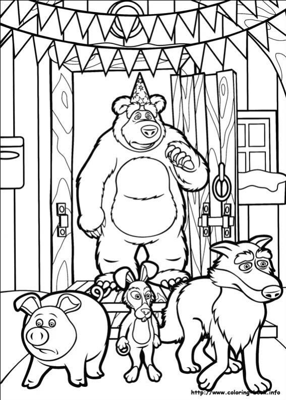 ภาพวาดระบายสีมาช่ากับพี่หมี 15