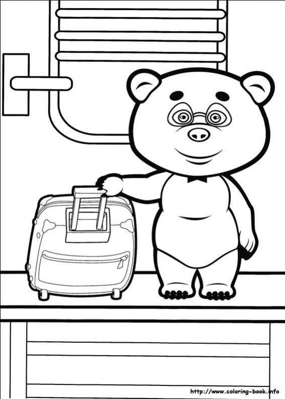 ภาพวาดระบายสีมาช่ากับพี่หมี 04
