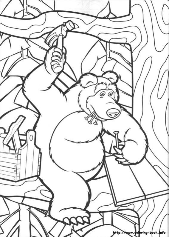 ภาพวาดระบายสีมาช่ากับพี่หมี 16