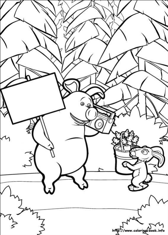 ภาพวาดระบายสีมาช่ากับพี่หมี 18
