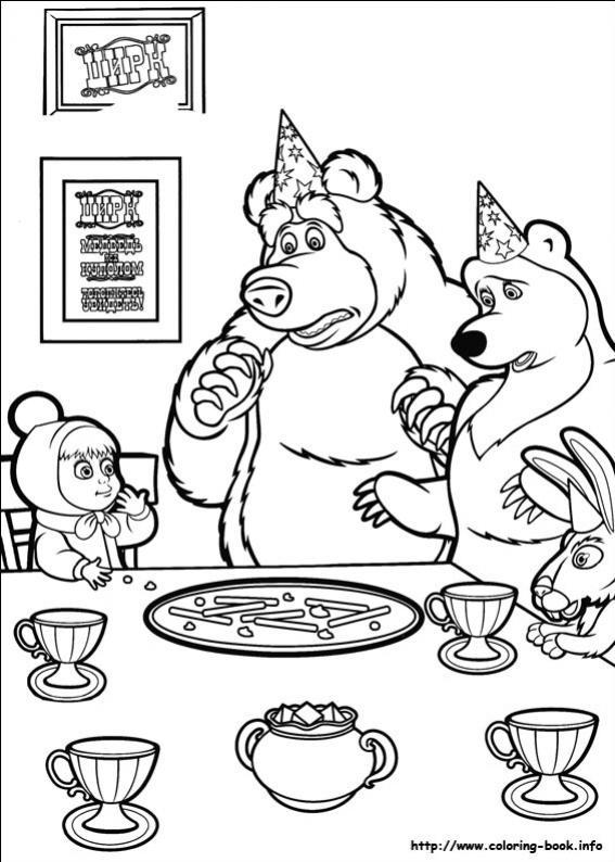ภาพวาดระบายสีมาช่ากับพี่หมี 11