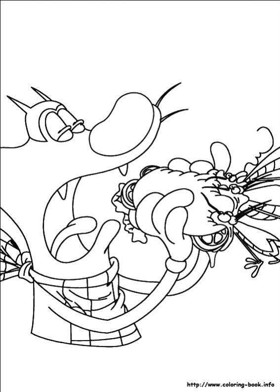 Kleurplaat Overwatch ภาพระบายสี อ็อกกี้ เหมียวซ่ากับแมลงแสบ Oggy And The