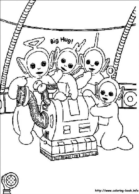 ภาพวาดระบายสีTeletubbies เทเลทับบีส์ 14